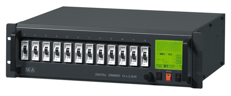 MA Lighting Dimmerpack 12x 10A, digital, DMX 512 5-Pol, 32A CEE