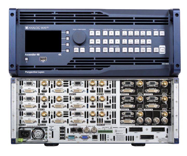 Analog Way Ascender 48-4K  Seamless Switcher