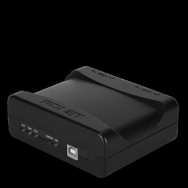 RCF RDNet Control 2 Mastereinheit mit 2 Ausgängen, inkl USB-Kabel