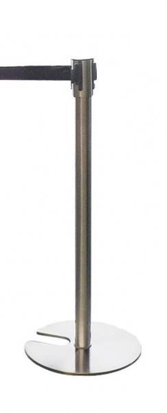 Tensator (silber) mit Gurtband (schwarz, 2m) / Personenleitsystem
