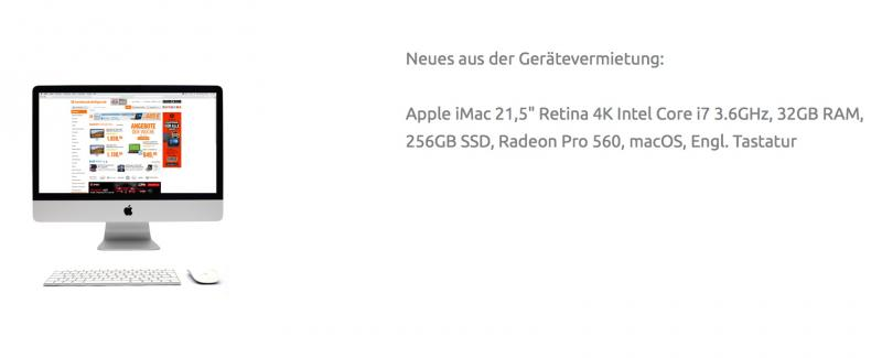 "Apple iMac 21,5"" Retina 4K Intel Core i7, 32GB RAM"