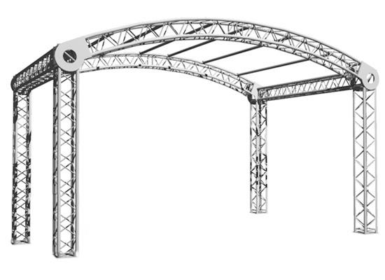 Varia Rundbogenbühne 4x3m Grundfläche, Außenmaß (LxBxH): 5.25x3.6x3.39m