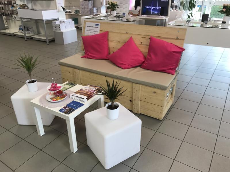 Lounge Sitzbank Holz