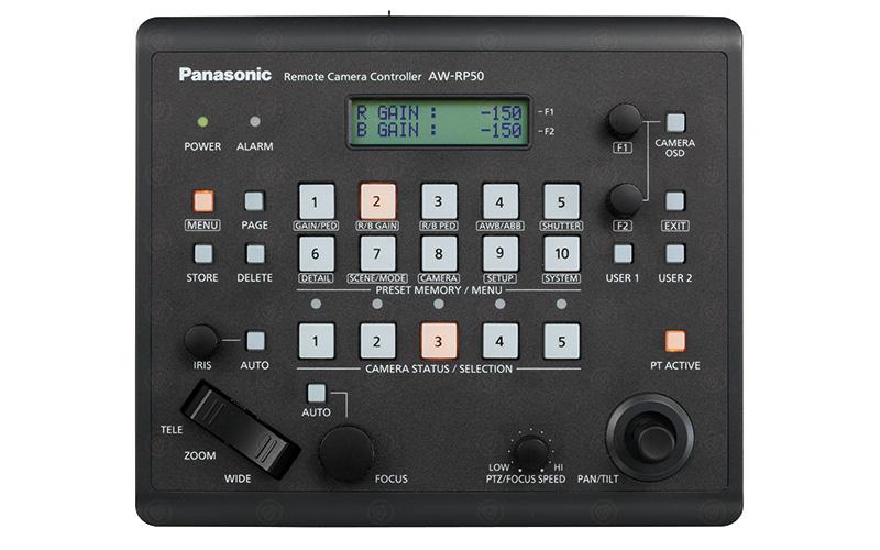 Panasonic AW-RP50E camera control panel