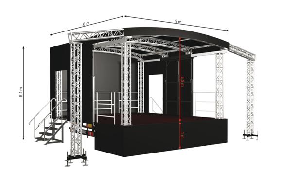 Sound of Centuries Stage 30R Rundbogen mobile Bühne mobilbühne