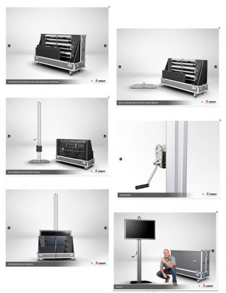 Audipack design floorstand 900 serie - screenlift - 230 cm