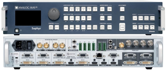 AnalogWay Saphyr SPX450 Presentation switcher