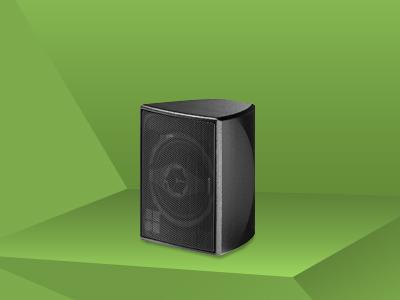 E-4 Lautsprecher; schwarz