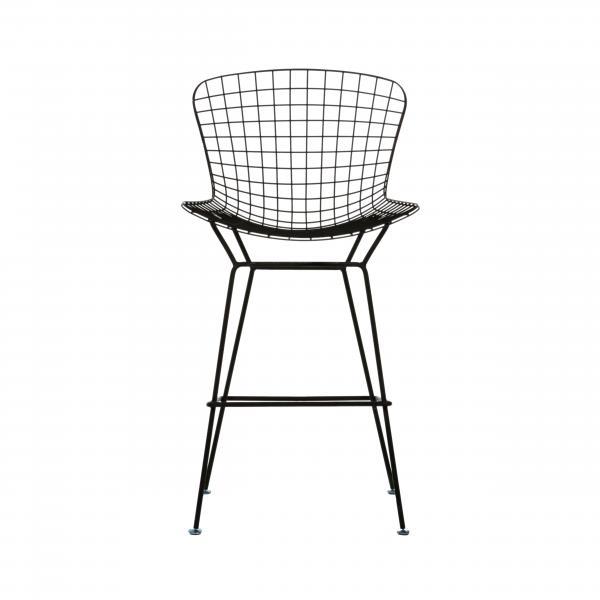 Black Wire Bar Chair with Cushion