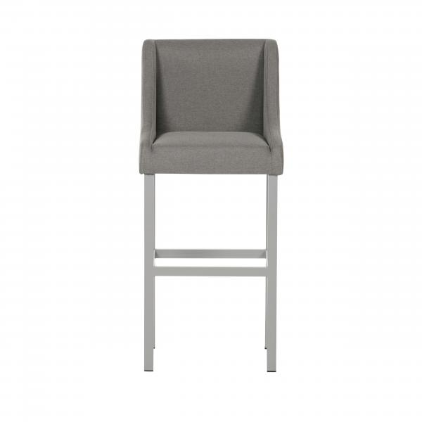 Grey Fabric Bar Chair