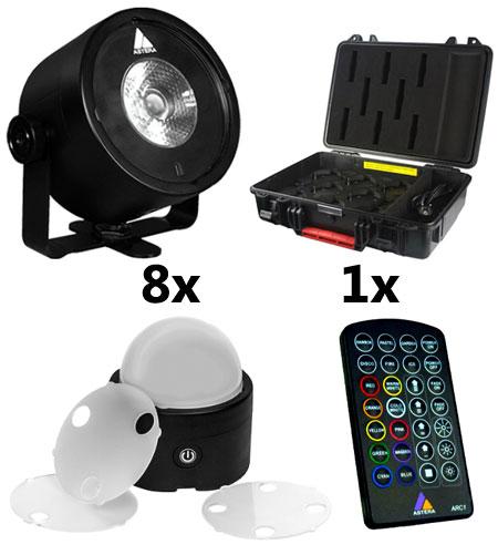 Astera AX3 Lightdrop 8er Set im Ladekoffer