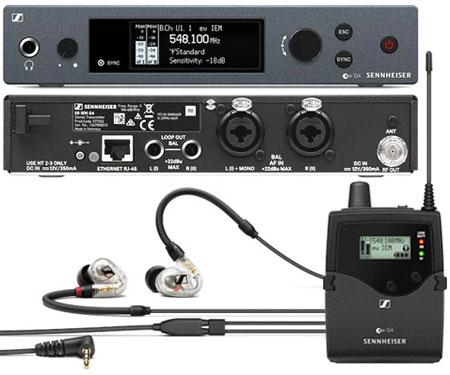 In-Ear Sennheiser G4-Set E-Band bestehend aus SR-IEM Sender, EK-IEM Empfänger und IE40 Pro Clear Hörer