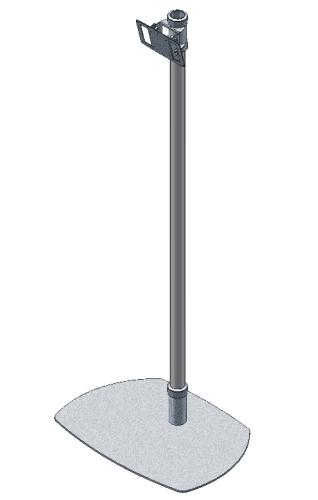 Bodenständer, Monitorständer VESA 100, 165 cm Höhe